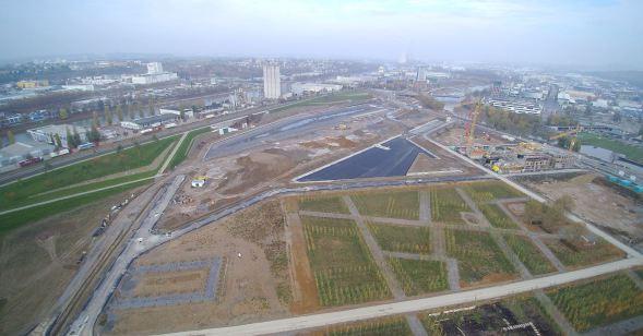 Luftaufnahme BuGa Heilbronn Dezember
