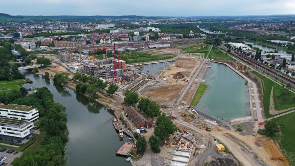 BuGa2019,BuGa Heilbronn,BuGa HN,Karlssee,Floßhafen,Karl-Nägele-Brücke